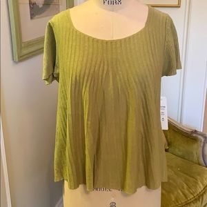 Linen knit fit and flare top